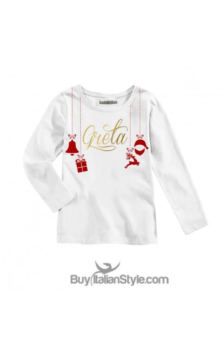 T-shirt bimba personalizzabile Natalizia