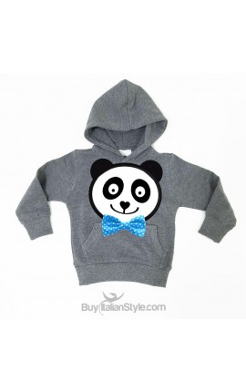 Baby boy sweatshirt with printed Panda