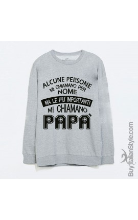 "Basic Men's Sweater ""Some people call me by name but the most important ones call me Daddy"""