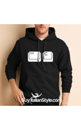 "Men's Hoodie sweatshirt ""Ctrl + c"""