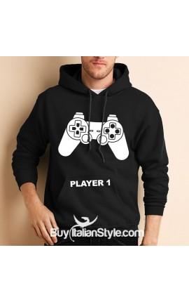 """Men's Hoodie sweatshirt """"Player 1"""""""