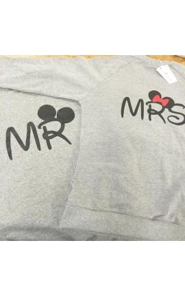 """Felpa donna/uomo con scritte """"MR"""" e """"MRS"""""""