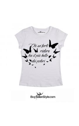 """T-shirt donna manica corta """"Chi sa farti ridere"""""""