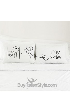 """My Side Your Side"" Couples pillowcases"