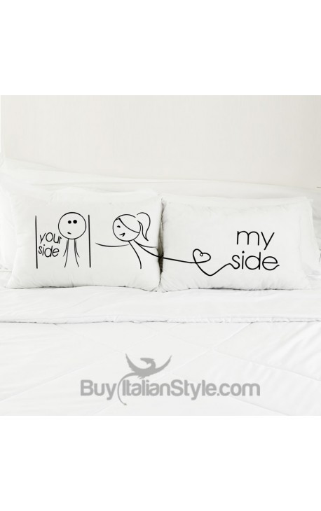 """""""My Side Your Side"""" Couples pillowcases"""