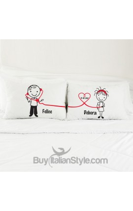 """Love Whispers"" Couples pillowcases"