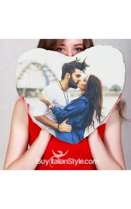 Cuscino a forma di cuore Personalizzabile con FOTO
