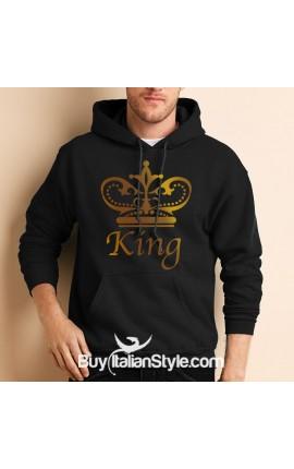 "Men's Hooded Sweatshirt ""King"""