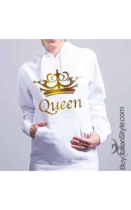 "Felpa Donna con cappuccio- ""Queen"""