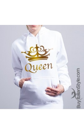 "Women's Hooded Sweatshirt ""Queen"""