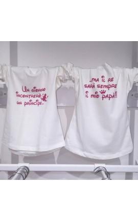 maglietta con dedica festa del papa