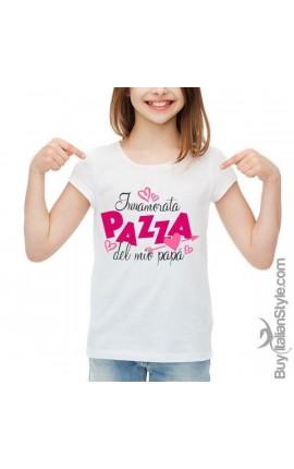 """T-shirt bimba mezza manica """"Innamorata pazza del mio papà"""""""