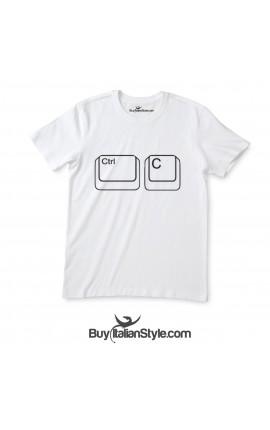 "T-shirt uomo manica corta ""CTRL+C"""