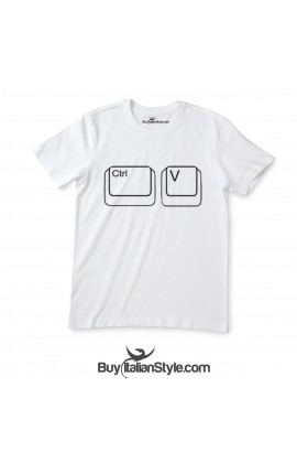 "Short sleeve T-shirt ""Ctrl + v"""