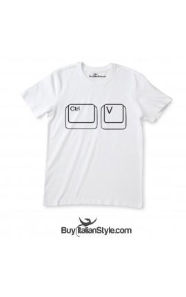 """T-shirt bimbo manica corta """"Ctrl+v"""""""