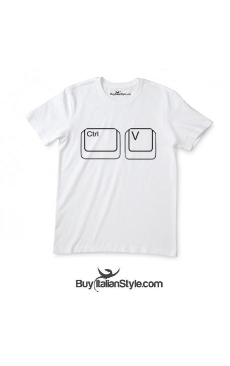 """Short sleeve T-shirt """"Ctrl + v"""""""