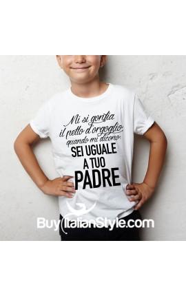 """T-shirt bimbo manica corta """"Uguale a papà"""""""