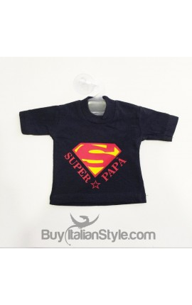 "Mini T-SHIRT per Auto ""Super Papà"""