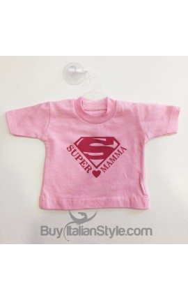 "Mini T-SHIRT per Auto ""Super MAMMA"""
