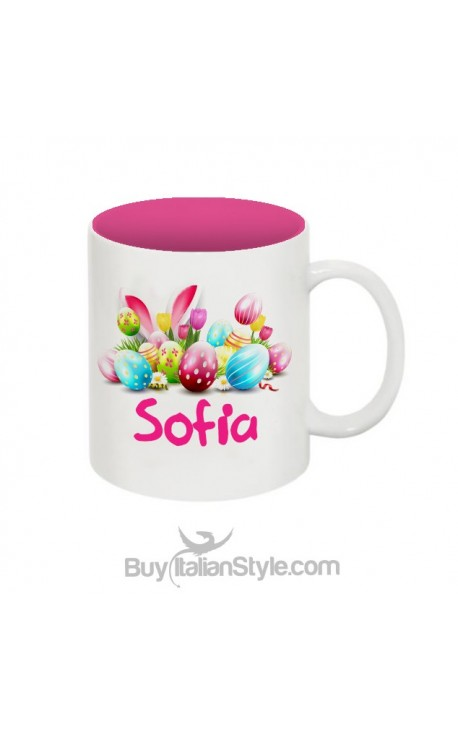 Customizable unbreakable mug with printed little eggs