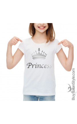 "T-shirt bimba mezza manica ""Princess"""