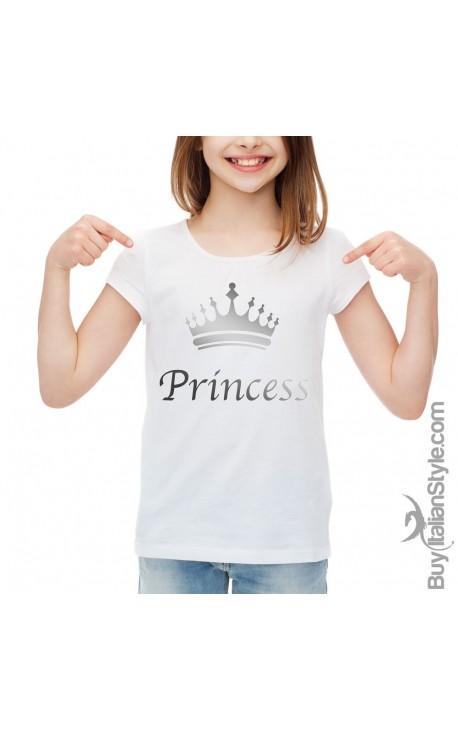"""T-shirt bimba mezza manica """"Princess"""""""