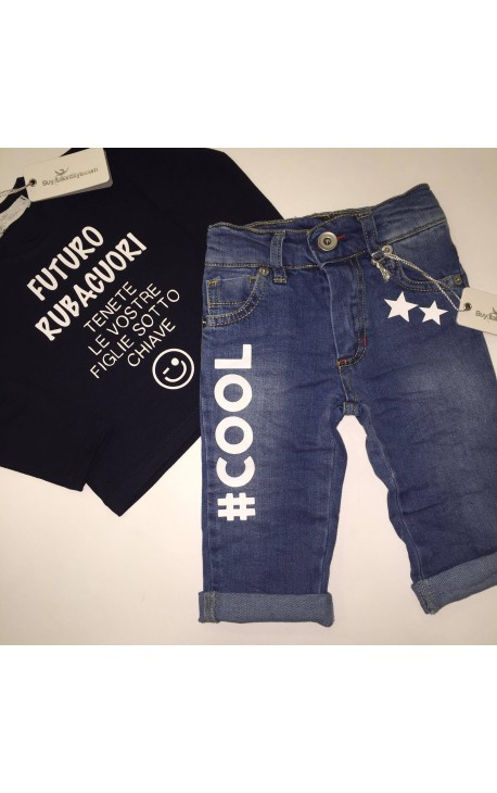 """Baby boy jeans """"COOL"""""""