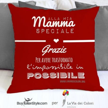 """Federa cuscino """"grazie mamma """""""