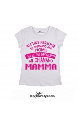 """T-shirt mezza manica """"Mi chiamano mamma"""""""