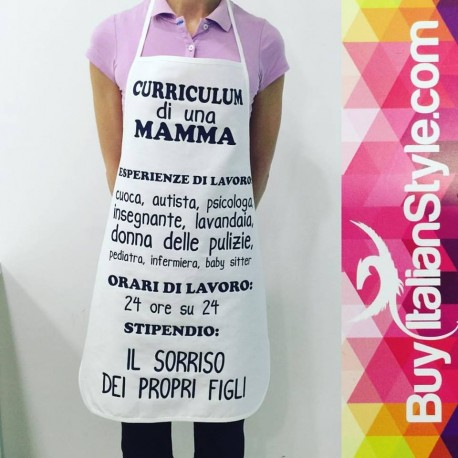 idea regalo festa della mamma grembiule curriculum di una mamma