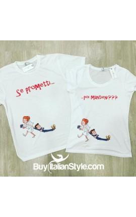 """PACK 2 T-shirt """"Se prometti posi mantieni"""""""