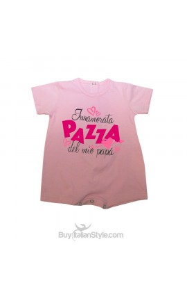 "Baby romper ""I'm crazy in love with my dad"""