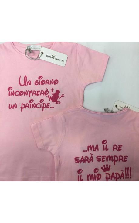 """T-shirt bimba 6mesi/14anni """"Il principe e il re"""""""