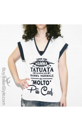 "Curvy t-shirt ""Mamma tatuata"""