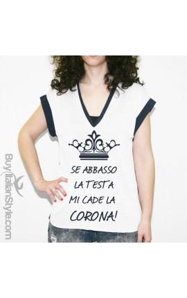 "Curvy t-shirt ""Corona"""