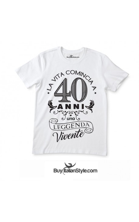 "T-shirt uomo/donna ""Leggenda Vivente"""