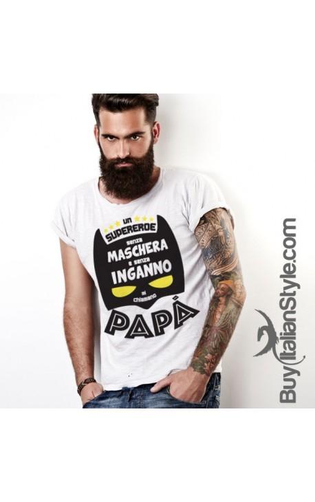"""T-shirt uomo mezza manica """"UN SUPER EROE SENZA MASCHERA"""""""