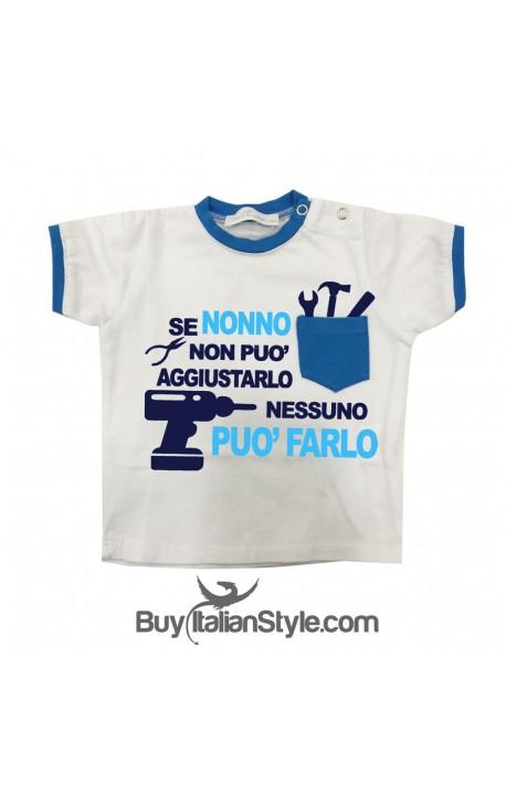 """T-shirt con taschino """"Se nonno non può aggiustarlo"""""""
