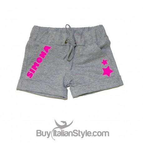 Pantaloncini Basic Bimba personalizzabile