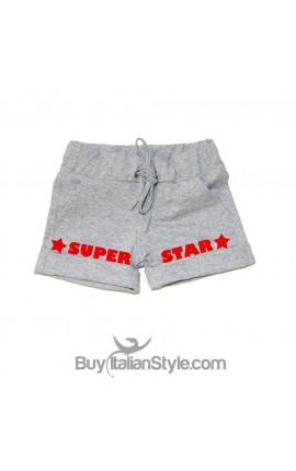 "Baby girl shorts ""super star"""