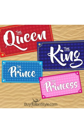 Teli mare a scelta tra King, Queen, Prince e Princess