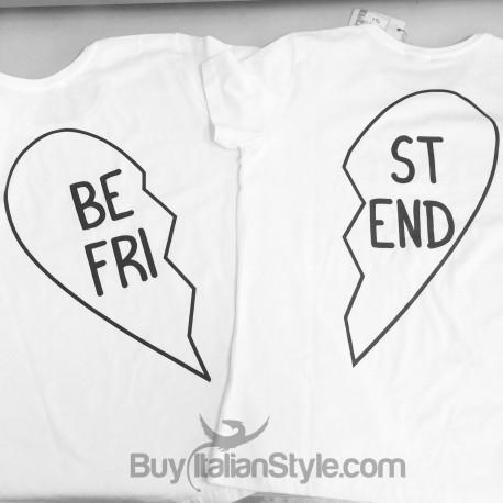 insieme formano un cuore! T-shirt di coppia cuore idea regalo migliori amiche
