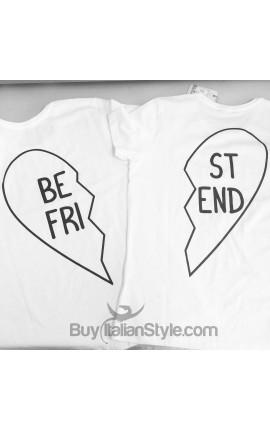 "PACK: 2 Tank top or T-shirt ""Best Friend """