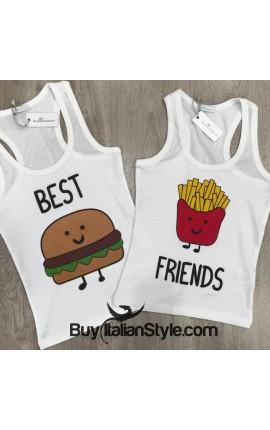 """PACK:2 Tank Top """"Hamburger and Chips"""""""
