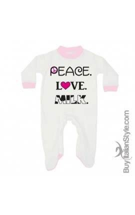 "Winter or summer all in one to your choice ""Peace Love Milk"""