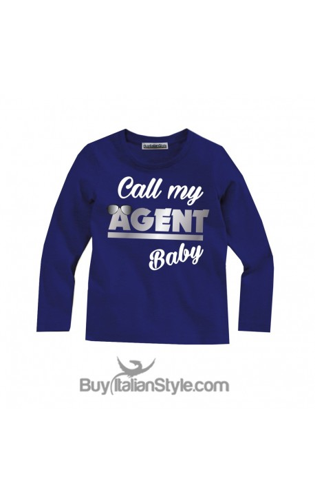 """Baby T-shirt LONG SLEEVE """"Call my agent baby"""""""