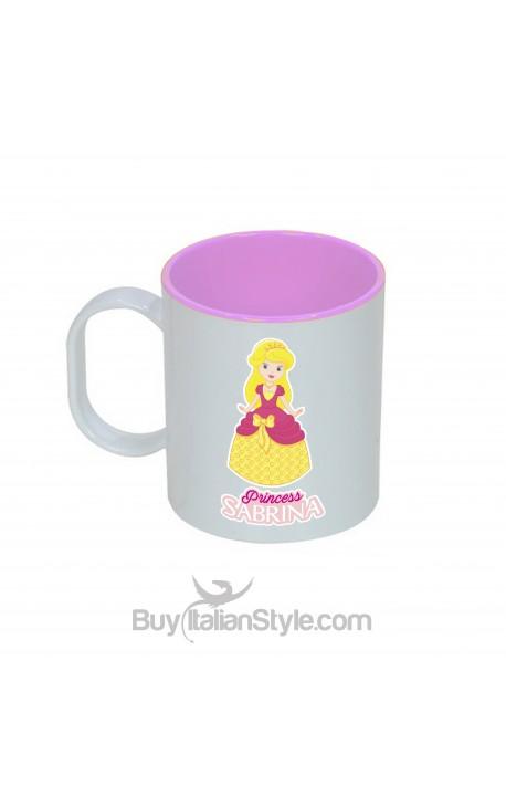 """Tazza di plastica infrangibile """"Princess"""" personalizzabile con nome"""