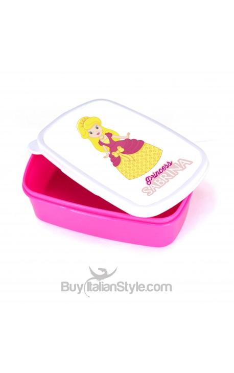 """Porta pranzo e merende """"Princess"""" personalizzabile con nome"""