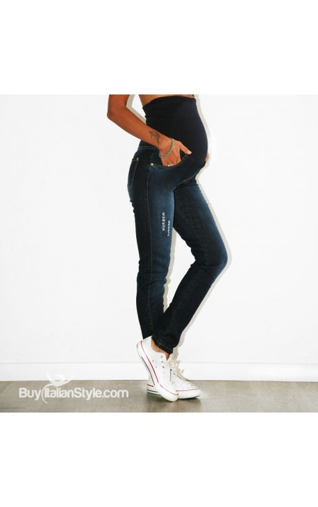d48513e48935 jeans premaman effetto lavato con rotture