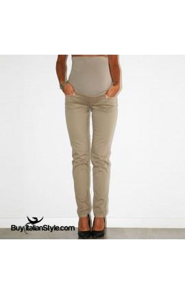 Pantaloni premaman color con fascia ALTA elasticizzata